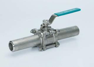 三片式加长焊管球阀